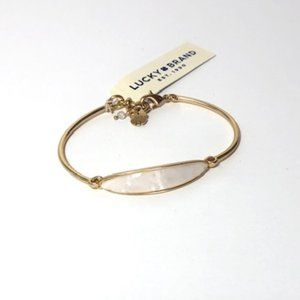 Lucky Brand Gold Tone Mother of Pearl Bracelet